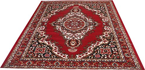 FCARPET FLORAL DESIGN CARPET 180X235 CM(6X8 FEET) RED