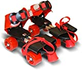 #9: Cable World Roller Skates for Kids Age Group 6-12 Years Adjustable Inline Skating Shoes (Multi Color)