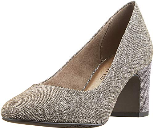 Tamaris Damen 22458-21 Pumps, Gold (Zinc Glam 905), 42 EU