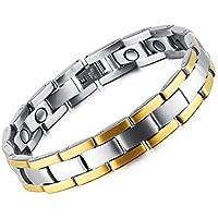BESTOYARD Magnetfeldtherapie Armband für Männer Titan Stahl Armband Link für Arthritis und Karpaltunnel Schmerzlinderung preisvergleich bei billige-tabletten.eu