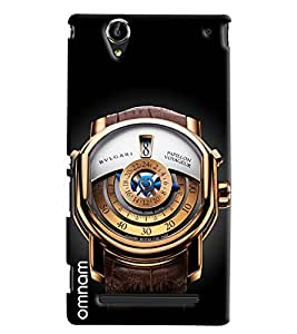 Omnam Bvlgari Watch Printed Designer Back Cover Case For Sony Xperia T2 Ultra