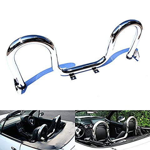 Mazda MX-5 Miata Eunos Roadster 1989-05 NA NB Twin Loop Roll Over Sport Bar Stainless Polished Chrome