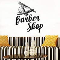 Barber Shop Logo Sticker Hairdressing Salon Mural Hairdresser