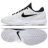 new product 2cc51 33d91 Nike Air Zoom Cage 3 HC, Sneakers Basses Homme, Blanc (White Black