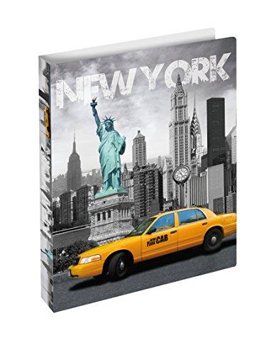 Herma 19132 Ringbuch DIN A4 Kunststoff, Serie Städte, Motiv USA New York, 2 Ringe, Rückenbreite 25...