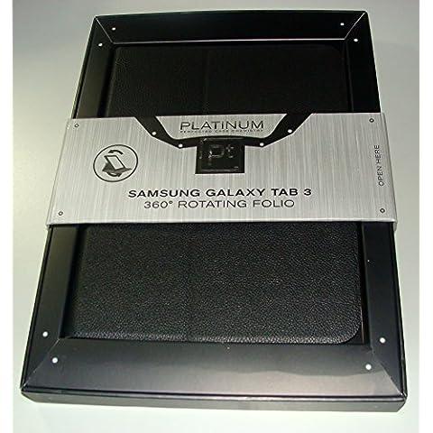 Platinum - Custodia a libro girevole per Samsung Galaxy Tab 3 10,1 - Nero