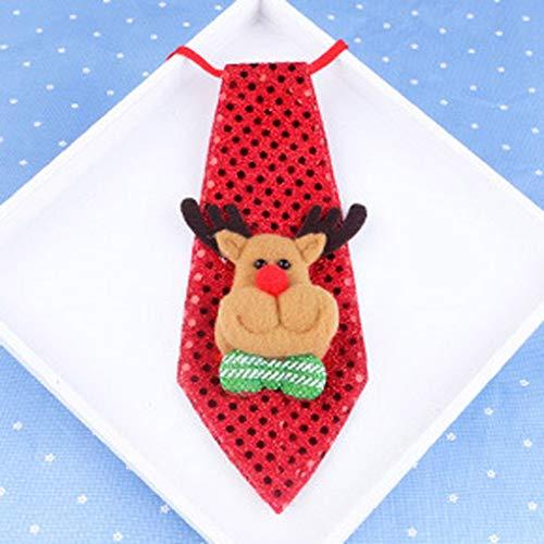 Timlatte Lichter-Krawatten-Party Zubehör Junge Krawatte Pre-Tied-Hals-Bindung Krawatte für Kinderkostüm (Keine Hektik Kostüm)