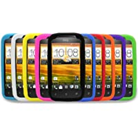 Gadget Giant Schutzhüllen für HTC DESIRE C, Silikon, 10 Stück, Lila, Rot, Hellblau, Grün, Dunkelblau, Gelb, Schwarz, Weiß, Orange, Pink