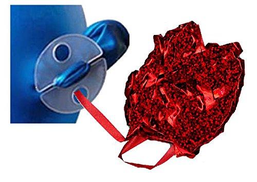 Preisvergleich Produktbild mondial-fete–100Befestigungen/Flower Clusters Luftballons + 6Rollen Geschenkband 10Meter