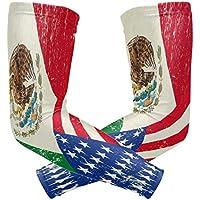 zzkko American Mexiko Flagge Kühlung Arm Sleeves Abdeckung UV-Sonnenschutz für Herren Damen Running Golf Radfahren... preisvergleich bei billige-tabletten.eu