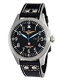 Aeronautica Militare AV1C1 - Reloj, correa de piel de borrego color negro