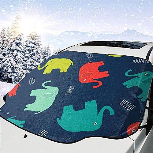 DEVP windshield sunshades Plegable Elefante Lindo Parabrisas Cubierta de sombrilla Ventana Bloques de Sombra de Sol Rayos UV Protector de Visera