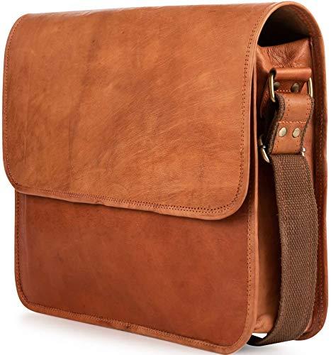 Berliner Bags Ghent Messenger Bag Umhängetasche Schultertasche 15,4 Laptoptasche Ledertasche Leder Herren Damen Braun