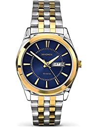 Sekonda Men's Quartz Watch with Blue Dial Analogue Display and Silver Stainless Steel Bracelet 1032.27