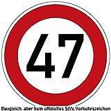 40-49 (km/h) Verkehrszeichen als Geburtstagsschild 60 cm Durchmesser, Aluminium Reflektierend (47)