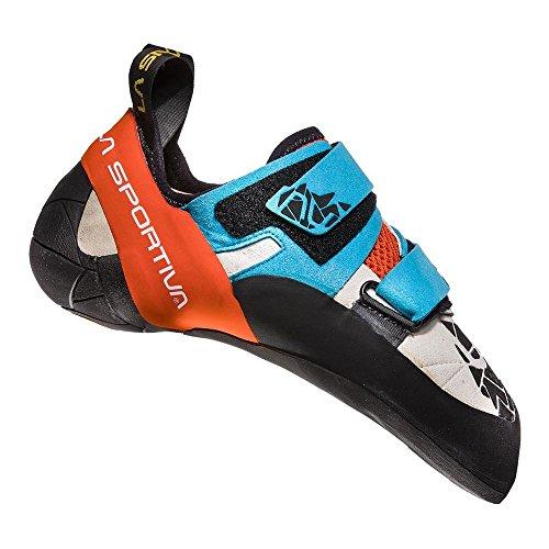 La Sportiva Otaki Climbing Shoes Men Blue/Flame Größe 43 2018 Kletterschuhe