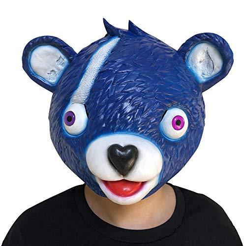 VIWIV Pink Bear Spiel Maske Schmelzen Gesicht Erwachsene Latex-kostüm Spielzeug Für Den Täglichen Gebrauch Heiligen Tag Tiermaske Horror-Party-Requisiten,Blue
