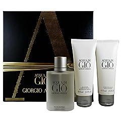 Idea Regalo - Armani Acqua di Gio Pour Homme, Cofanetto regalo con Eau de Toilette 50 ml + Balsamo dopobarba 75 ml + Gel doccia 75 ml