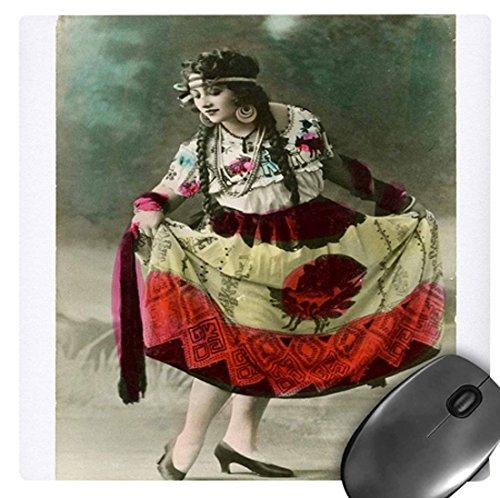 3drose 20,3x 20,3x 0,6cm Maus Pad, Vintage Foto von Lady Tragen mexikanischen Dance Kostüm (MP 128694_ (Womens Maus Kostüm)