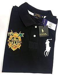 Polo Ralph Lauren - T-shirt - Avec boutons - Uni - Col Chemise Classique - Homme