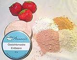 Gesichtsmaske Erdbeere - bei trockener bis empfindlicher Haut, ohne Palmöl und Konservierungsstoffe, Gesichtsmaske aus natürlichen Heilerden von kleine Auszeit Manufaktur