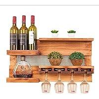 Massivholz Wand-Montiert Weinregal-70 * 37 * 15 Cm-Restaurant Wohnzimmer Bar Weinglas Rack Kreative Becher Rack, Platz Sparen
