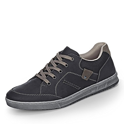 Uomo mezzo scarpe, Rieker Oilybuk/Velvet/Kevelaer, PU-suola Nero (schwarz/fumo/schwarz Extra Weit)