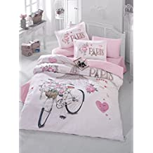 MySweetHome Paris Love, %100 Cotton Double-Full/Queen Size Quilt/Duvet