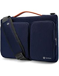 """tomtoc 11,6-12,5"""" Housse Sac à Bandoulière Compatible avec 12,3"""" Surface Pro, New MacBook Air 13"""" Retina A1932 Touch ID, New MacBook Pro 13"""" A2159 A1989 A1706 A1708, Dell XPS 13, Bleu Foncé"""
