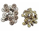 14mm Messing Jeans Knöpfe Dunkel Bronze und Nägel mit Befestigung