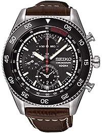 8bbdc402c28c Seiko Reloj Cronógrafo para Hombre de Cuarzo con Correa en Cuero SNDG57P2