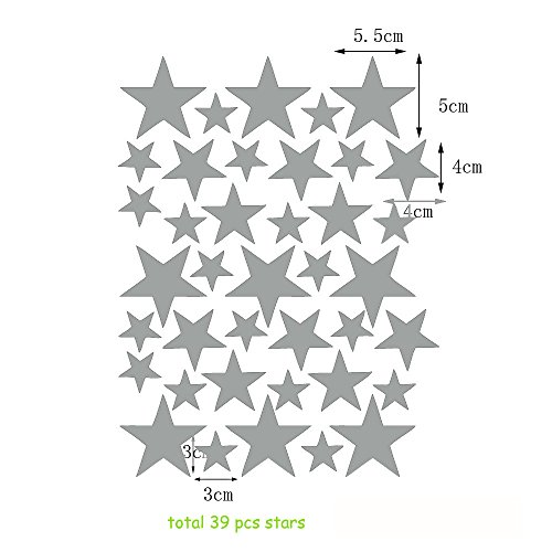 diy-stars-wall-sticker-decal-for-children-nursery-room-decor-silver-39-pcs-stars