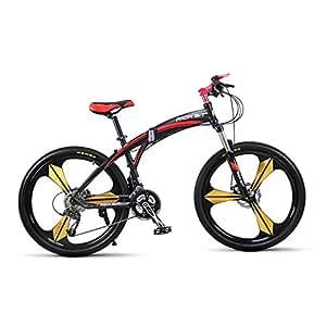 VTT semi-rigide Vélos plaints Hommes vélo Cadre en aluminium 26 pouces Shimano 27 Vitesses Magnésium intégré roue 3 Rayons Richbit 601 Rouge Noir Nouvelle mise à jour