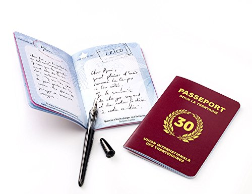 Livre d'or anniversaire 'passeport pour la trentaine'