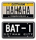 Celebrity Machines Batman + Suicide Squad | Bat-1+ Hahaha | Métal poinçonné Vanity Prop Combo de plaque d'immatriculation