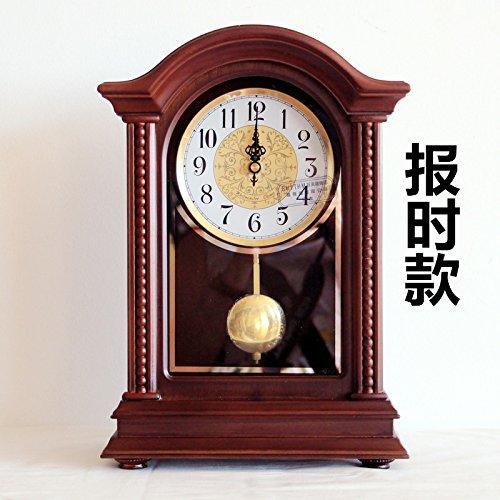 Y-Hui Massivholz Base Clock Wohnzimmer Uhren Große Uhr Mute Schreibtisch Uhrzeit Quarz Pendel Teil, 10-Zoll des verbindungskabels Bericht.) (Standuhr Teile Pendel)
