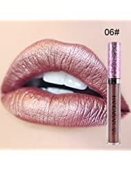 ROMANTIC BEAR 6 Farben Metallic Schimmer Liquid Lippenstift Langlebig Matt Wasserdicht Feuchtigkeitsspendende Lipgloss
