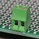 "ELECTRONICS-SALON 10pcs 2polos 2,54mm/0,1""PCB universal Tornillo Bloque De Terminales."