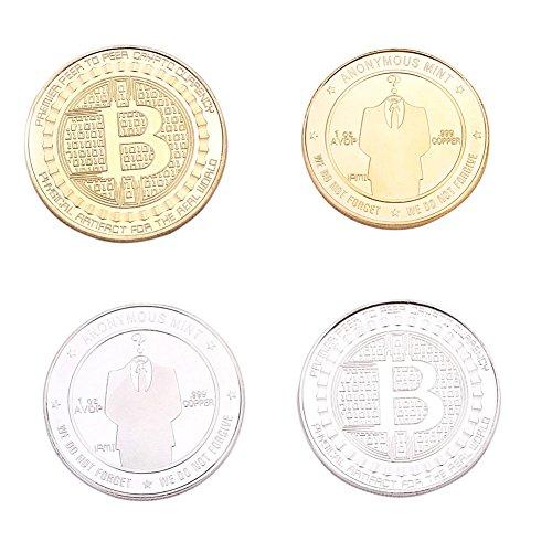 Koreyoo 2 Stück Limited Edition Bitcoin Gedenk Deluxe Collectors Münze Sammlerstück BTC Münze Kunst Sammlung Geschenk Sammlerstück Münze (Seidenstraße) (H01) (Dollar Münze Werte)