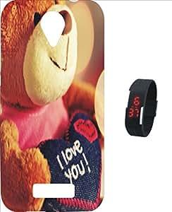 BKDT Marketing Printed Back Cover for Intex Aqua Star 4G with Digital Watch