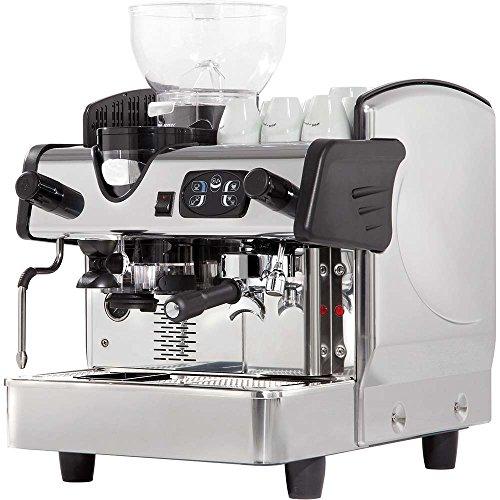 Eingruppige Siebträgermaschine mit Kaffeemühle Kaffeemaschine 460 x 590 x 630 mm 6 Liter 2,8 kW...