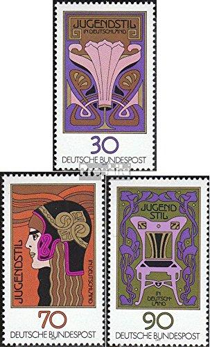 Prophila Collection BRD (BR.Deutschland) 923-925 (kompl.Ausgabe) 1977 75 Jahre Jugendstil (Briefmarken für Sammler) Malerei