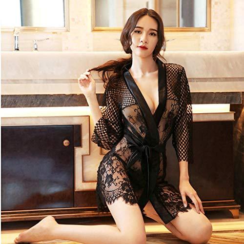 Conjuntos de lencería para mujer Corsés para mujer Ropa de dormir para mujer Sexy tentación de encaje...