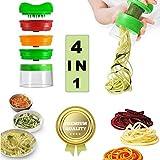 Sunshine smile - Cortador en Espiral para Verduras Espagueti 4 en 1, Cortador en Espiral para Verduras, para Zanahorias, pepinos, Patatas, Calabazas, calabacines
