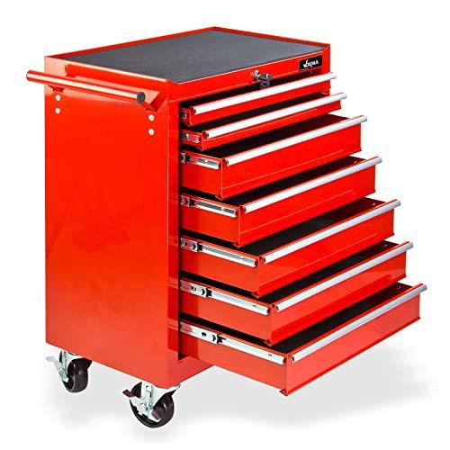 TronicXL Premium Werkzeugwagen Werkstattwagen mit 7 Schubladen Rollwagen Wagen ohne Werkzeug...