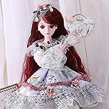 23.6 Zoll Baby Mädchen Reborn Puppen Realistische 60Cm Dressup Hochzeit Prinzessin BJD Puppe Set Kind Festliche Geschenk/Spielzeug HMYH
