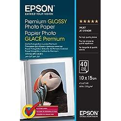 Epson Premium Glossy Photo Paper - Papier Photo Brillant 10 X 15 cm - 40 Feuilles