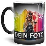 Tasse selbst Gestalten/Personalisierbar mit eigenem Foto oder Text Bedrucken/Thermoeffekt / Farbwechseltasse/Magic Cup/Motivtasse / Werbetasse/Zaubertasse - Glanz
