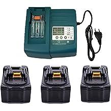 3X 18V 3000mAh Reemplace Makita batería BL1830 BL1815 + 1X Makita Cargador DC18RA DC18SC DC1803 DC1804