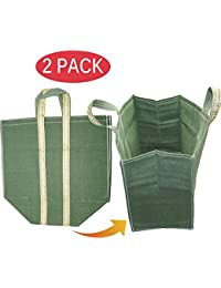 SNDIA 2-PACK Reusable Heavy Duty Cotton Canvas Grocery / Shopping / Vegetable Bag With Reinforced Handles & Thick...